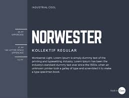 the ultimate guide to font pairing norwester is an attention grabbing geometric font best used for headings the pairing of norwester kollektif and montserrat is structured and geometric