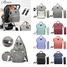 <b>LEQUEEN</b> Maternity Waterproof <b>Diaper Bag</b> USB Charging Large ...