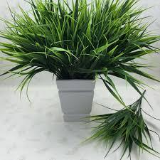 Flowers <b>Artificial</b> Plastic <b>Green Grass Plant</b> Flowers Office Home ...