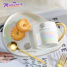 401-500ml ceramic pearl glaze spoon with lid home creative ...