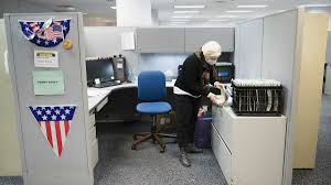 feeling the effects of state layoffs harrisburg bickering newsworks claims examiner penny erney who is undergoing chemotherapy packs up her cubical at office