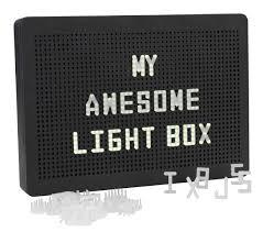<b>Light</b> box OLSEN w/100 <b>letters</b> and <b>LED's</b> | JYSK