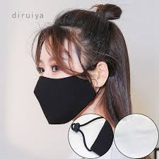 3D <b>Cotton Black mouth</b> Mask anti dust Activated carbon filter ...