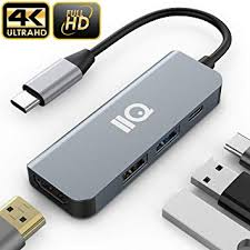 Updated 2019 Version USB C Hub, <b>4-in-1</b> USB C Adapter <b>with</b> 4K ...