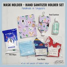 <b>Face Mask Holder</b> + Hand Sanitizer <b>Holder Set</b> | Shopee Singapore