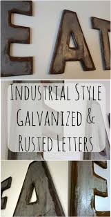 wood sign glass decor wooden kitchen wall: industrial style galvanized and rusted wood letters from my own home blog love this diy rustic wall decor idea more