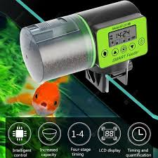 <b>LCD Electronic Automatic Fish</b> Feeder Dispenser Timer Aquarium ...
