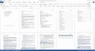 concept of operations template ms word sample templates this provides you an overview of the template notice the explanatory text in the light blue style and tables to capture data