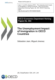the unemployment impact of immigration in oecd countries oecd the unemployment impact of immigration in oecd countries oecd edition