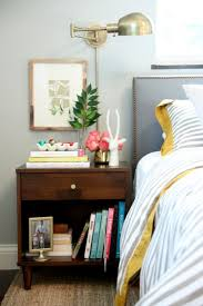 ideas bedside tables pinterest night: try a small piece of art over your bedside table art plus a lamp or