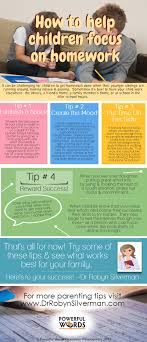 a great infographic for parents who need tips on helping their a great infographic for parents who need tips on helping their children focus