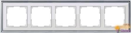 <b>Рамка Werkel Palacio</b> на 5 постов хром/белый WL17-Frame-05 ...