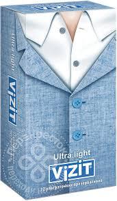 Купить <b>Презервативы</b> ViZiT Ultra light <b>Ультратонкие</b> 12шт с ...