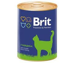 <b>Brit Premium Консервы</b> для кошек с говядиной   ФУР-ФУР