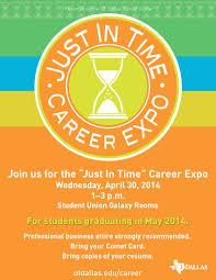 career expo utd career center bits just in time career expo flyer