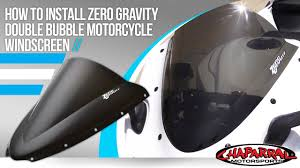 How To Install A Zero Gravity <b>Double Bubble</b> Windscreen at ...