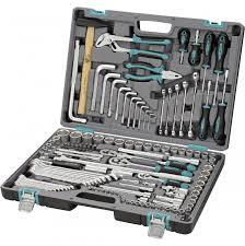 <b>Набор инструментов</b>, <b>1/2</b>, 3/8, 1/4, CrV, пластиковый кейс, 142 ...