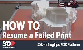 d printing tips how to resume a failed d print d platform 3d printing tips how to resume a failed 3d print