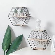 <b>Iron Hexagonal Grid Wall</b> Combination Hanging Geometric Figure ...