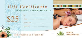 form template beauty gift voucher template massage beauty gift voucher template spa gift certificate template fill in