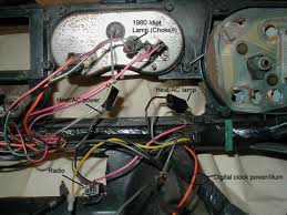 basic wiring harnesses for trans ams second is an orange and brown pair of wires that fed a digital clock in the top of the line stereo