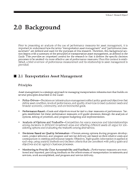 report contents performance measures and targets for page 6