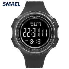 <b>SMAEL Men</b> Sports Watches 12/24 Hour <b>Double</b> Time Watch Alarm ...
