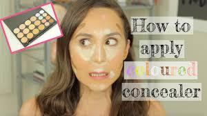 how to apply concealer zoeva concealer palette tutorial