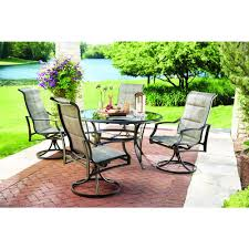 patio dining: hampton bay statesville padded sling swivel patio dining chair  pack fcss the home depot