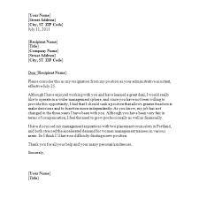 sample resignation letter   sample formatresignation letter