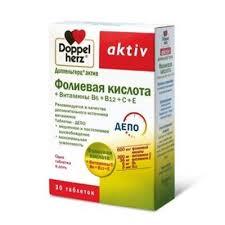 <b>Доппельгерц Актив Фолиевая кислота</b> + Витамины В6+В12+С+ ...