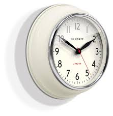 small bathroom clock:  newgate cookhouse wall clock linen white