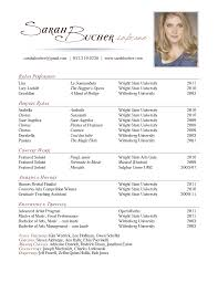 performance resume sarah bucher soprano
