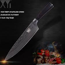 <b>XYj</b> Ultra thin Blade Stainless Steel Kitchen Knife 7Cr17 <b>Damascus</b> ...