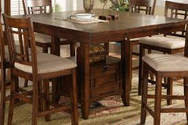 wood dining table counter height