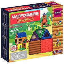 <b>Магнитный конструктор MAGFORMERS Log</b> cabin set (48 деталей)