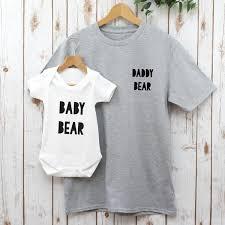 Daddy Bear and <b>Baby Bear</b> T Shirt Set | Betty Bramble
