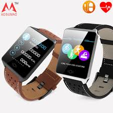 Adsumad smart bracelet <b>CK19</b> sports leather band heart rater ...