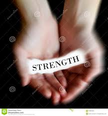 hands holding paper message strength stock photo image 46960830 hands holding paper message strength