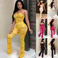 Lace Jumpsuit 2019 <b>New Fashion Rompers Womens</b> Jumpsuits ...