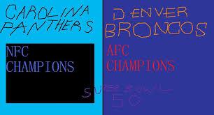 Resultado de imagen de 2016 carolina panthers vs denver broncos
