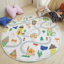 Animal Baby Play Mats Round Kids Rug Toys kids Carpet Cotton ...