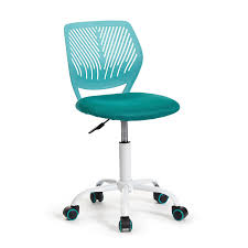 greenforest office task desk chair adjustable mid back home children study chair turquoise amazon chairs office