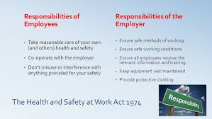administrative practices outcome 1 ppt the health and safety at work act 1974