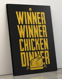 "Canvas Print 60x80cm ""<b>Winner Winner Chicken</b> Dinner"" – gixwear ..."