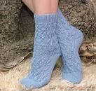 Ажурные носки вяжем спицами