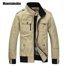 Mountainskin Casual <b>Men's Jacket Spring Army Military Jacket Men</b> ...