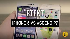 Apple iPhone 6 vs Huawei Ascend P7 - YouTube