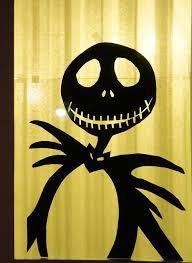 love halloween window decor: here is another window decoration i made jack skellington halloween