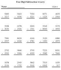 BlueBonkers - Subtraction Math Worksheet - Triple Digit Subtraction p4Printable subtraction sheet - math skills practice sheet